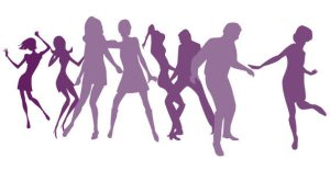 Clip Art People Dancing Silhouette